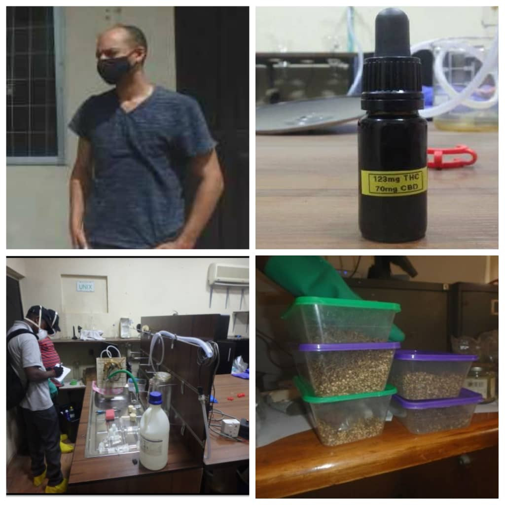 NDLEA uncovers first-ever hashish oil lab in Lagos, arrests owner (photos)