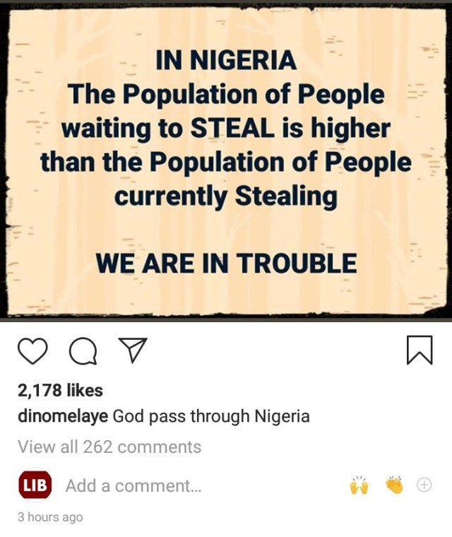"""Dino Melaye worries about the future of Nigeria as he says """"the population of people waiting to steal is higher than those currently stealing"""""""