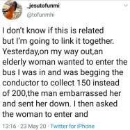 Listen on how a Woman narrates how she got 20k from a stranger after she helped a needy woman with 200 Naira