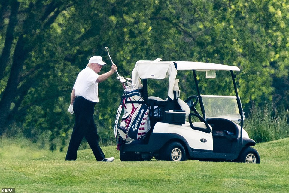 'They are sick with hatred and dishonesty' - Trump responds to critics blasting him for playing golf over the weekend