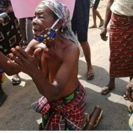 PICTURES OF: Ogoni women protest half-nak3d as they ask Governor Wike to release manager of demolished hotel who allegedly tested positive for Coronavirus