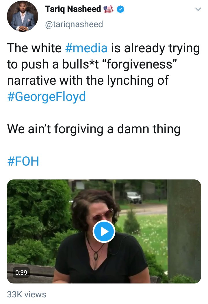 George Floyd?s fiancee speaks out, says people should forgive cop who killed him