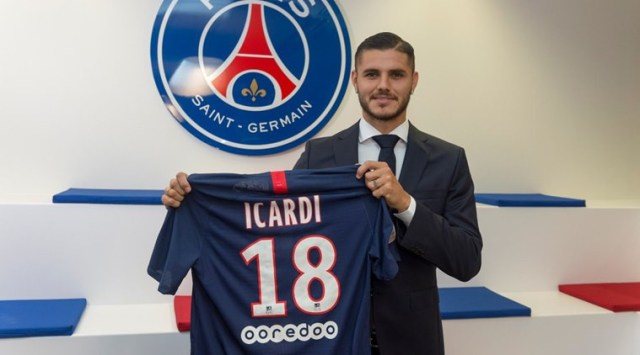 French champions, PSG confirm £52m signing of Mauro Icardi from ...