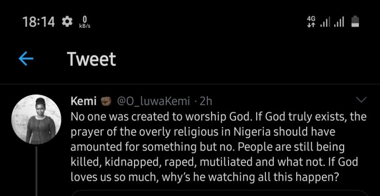 """Dragging God"" trends as Nigerians take to Twitter to blame God for the ills in the country  ""Dragging God"" trends as Nigerians take to Twitter to blame God for the ills in the country 5ed4a824dcc33"