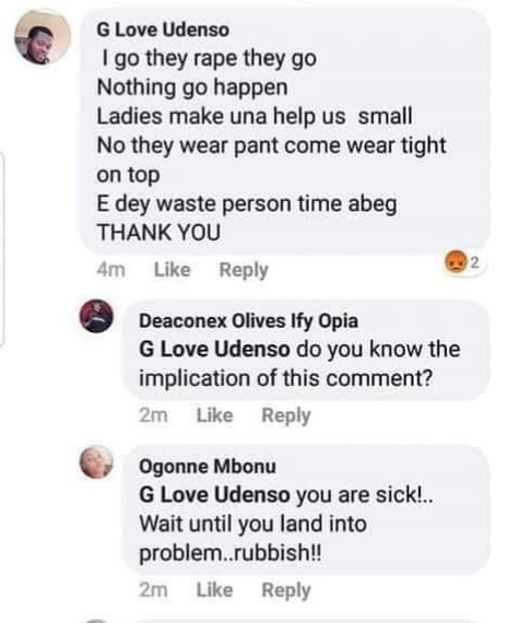 Nigerian actresses call out man after he said he will continue raping women and begged women to make it easier for them (screenshots)