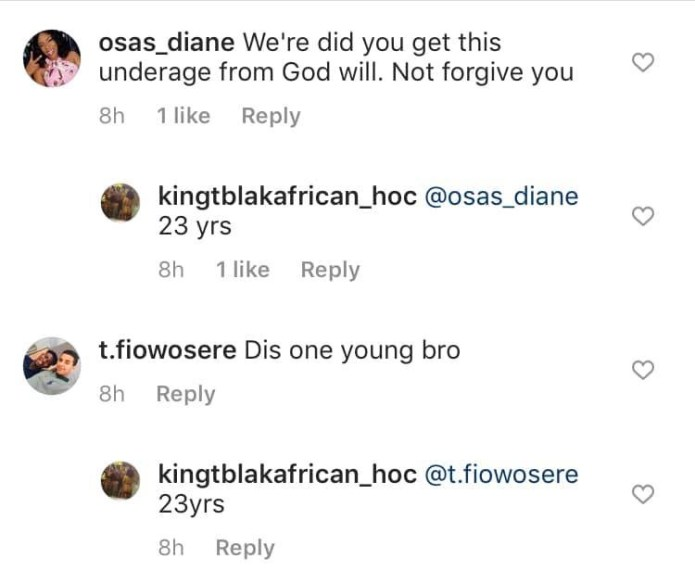 Nigerian porn star, Kingtblakhoc defends himself after being accused of using an underage girl for his porn movie (videos)