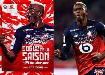 Super Eagles striker, Victor Osimhen voted Lille player of the season