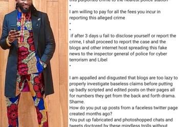 Uti Nwachukwu responds to rape allegations
