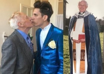Retired vicar, 81, who married Romanian toyboy, 27, has passed away and his husband says he's ready to enjoy his £150k inheritance and £2,000-a-month pension