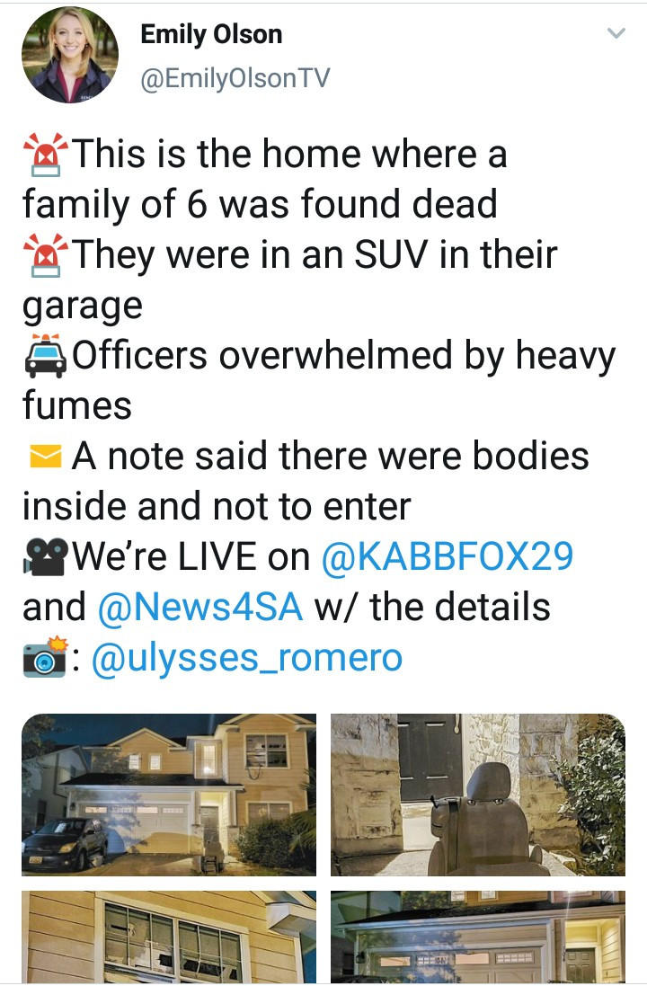 Family of six, including 4 young kids, and their pets are found dead inside a car with a cryptic note left behind in apparent suicide