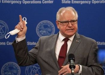 Minnesota governor, Tim Walz asks everyone who has protested the death of George Floyd to get tested for Coronavirus
