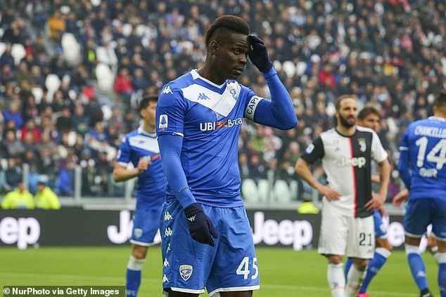 Mario Balotelli ?sacked' by his club Brescia after skipping training for 10 days
