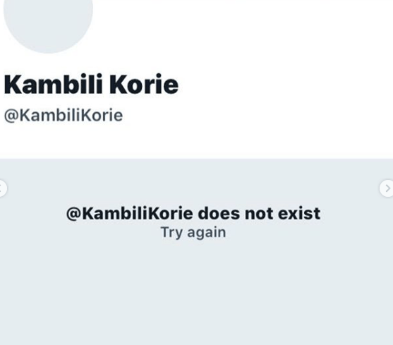 Uti Nwachukwu Reacts As Twitter User, Kambili Korie Who Accused Him Of Rape Deletes Account