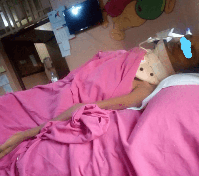 Teenager left with spinal cord injury after she was violently beaten up and raped by same man who allegedly raped her few months ago(photos)