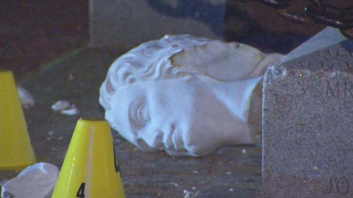 Christopher Columbus statue in Boston to be removed after it was beheaded overnight