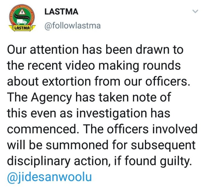 LASTMA reacts to video of their staff counting money allegedly extorted from road users