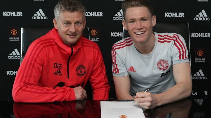 Man United star Scott McTominay signs new 5 year deal (photos)