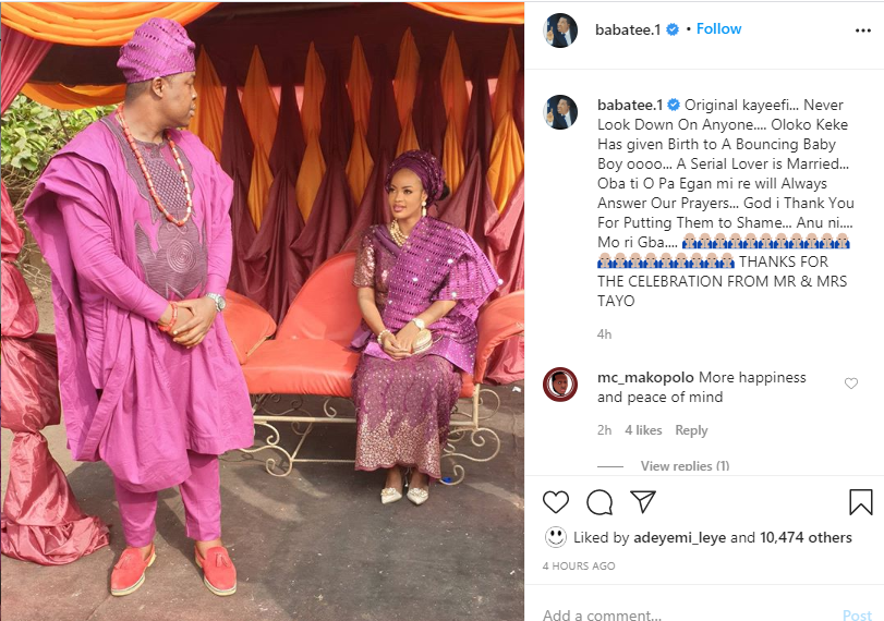 Man with a small pen*s has given birth to a baby boy - Comic Actor, Baba Tee drops shade