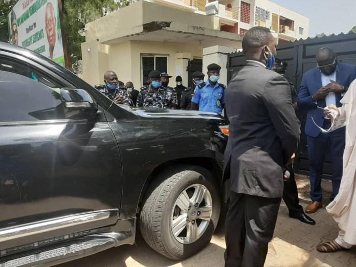 Police bar APC national secretary, Waziri Bulama, from entering party secretariat (photos)