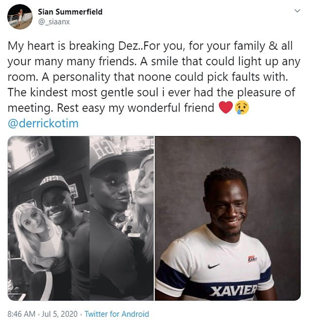 English-born Ghanaian footballer, Derrick Otim dies at 24 after drowning in a lake in the US