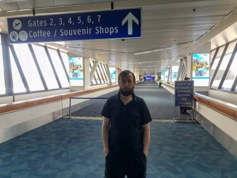 Man stranded in airport