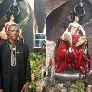 Church Of Satan Dismantled in Abia, police arrest founder (Picturs)