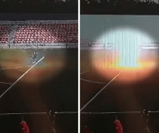 Moment lightning struck teenage soccer player during a game, leaving him fighting for his life (video)
