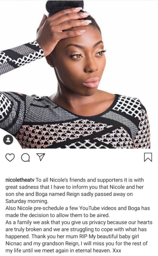 Pregnant British YouTube star, Nicole Thea dies at 24 along with her unborn son just weeks to her due date.