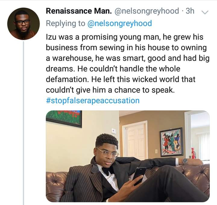 Young Nigerian man commits suicide after being accused of rape by a Twitter influencer. See his suicide note