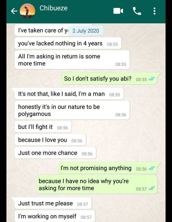 Being faithful in this Lagos is hard'' Man tells his girlfriend after she caught him cheating 6