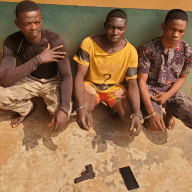 Police arrest three men for allegedly gang-raping lady in Ogun