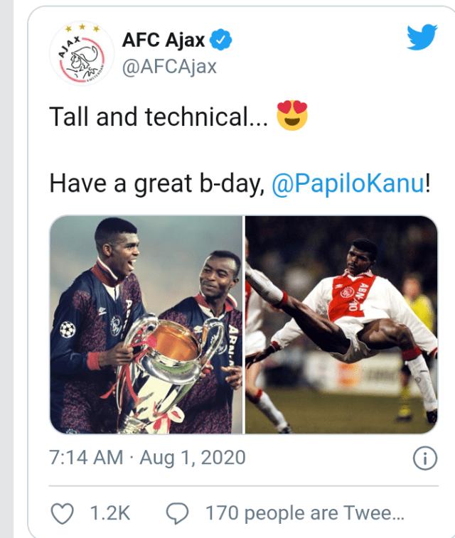 NFF, CAF and FIFA celebrate Kanu Nwankwo as he turns 44