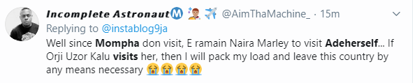 Twitter users react as Mompha pays Adeherself a visit after her release from EFCC custody (video)
