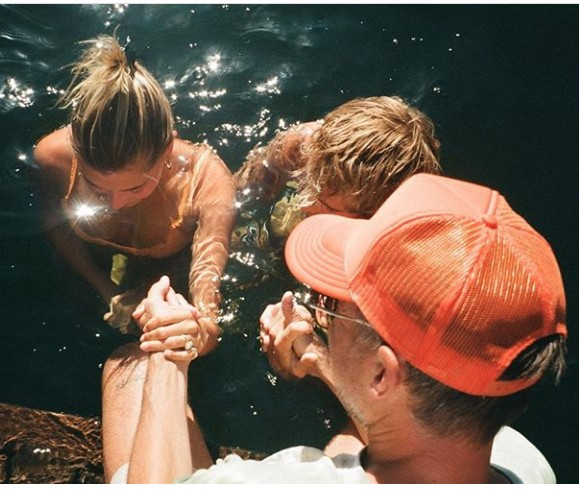 Justin Bieber and Hailey Baldwin Bieber get baptised together in front of their friends and family (photos)