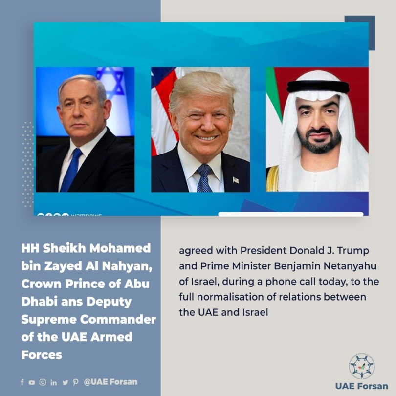 Israel agrees to suspend annexation of West Bank in historic peace deal with UAE