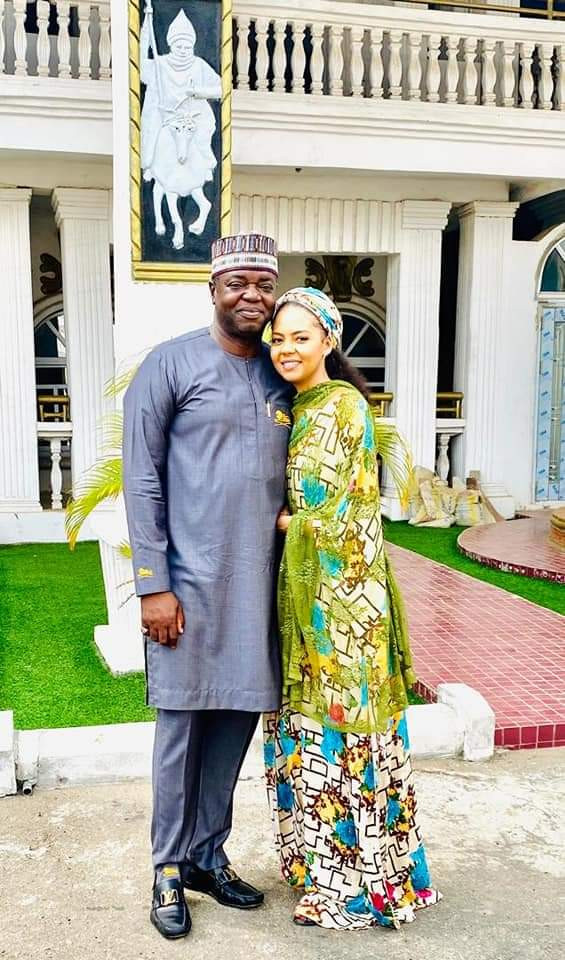 Lovely photos of billionaire daughter, Adama Indimi and her hubby as they visit her father in-law