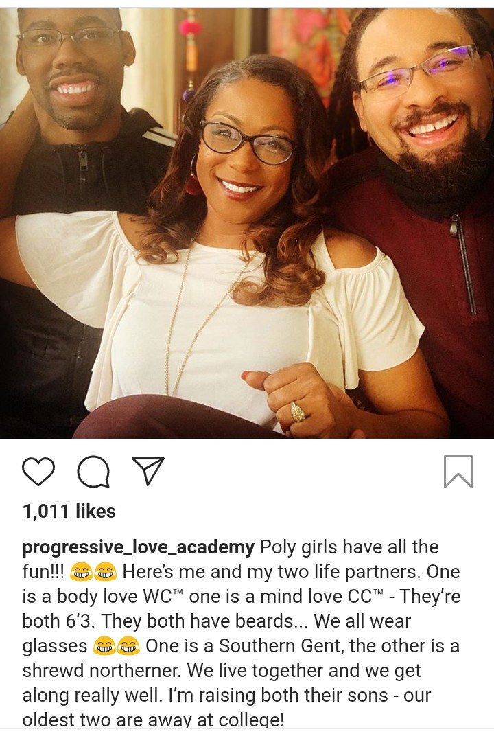 Woman happily shows off her two husbands and reveals they are happy together