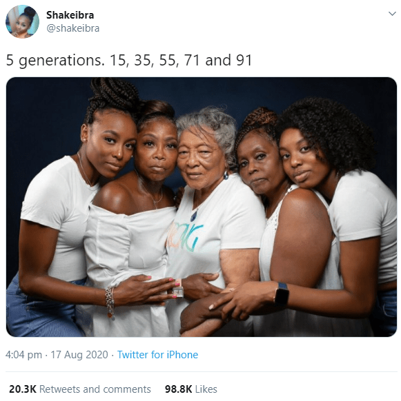This 5-generation family photo is going viral for obvious reasons