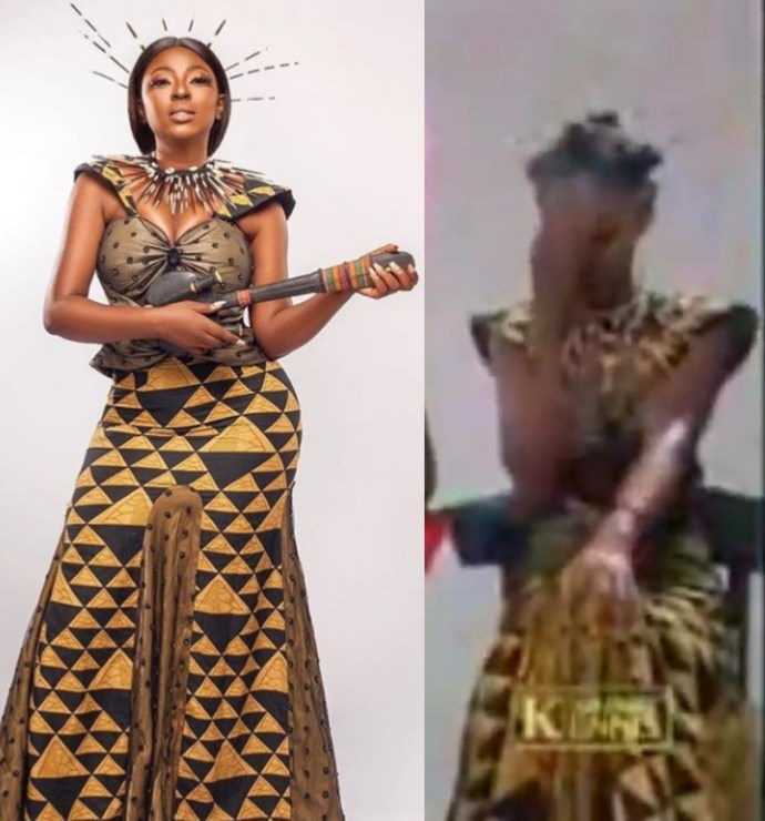 5f436576cc2e0 Yvonne Jegede recreates the look she wore for Tuface Idibia's African Queen music video to mark 16 years in the entertainment industry