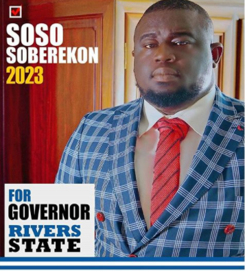 Music executive, Soso Soberekon declares interest to run for governor in Rivers state come 2023