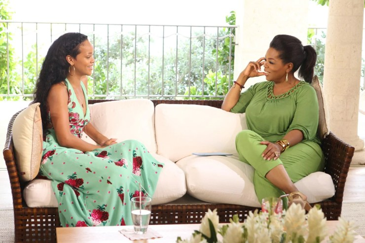 Rihanna tells Oprah Winfrey she still loves Chris Brown and they are friends again