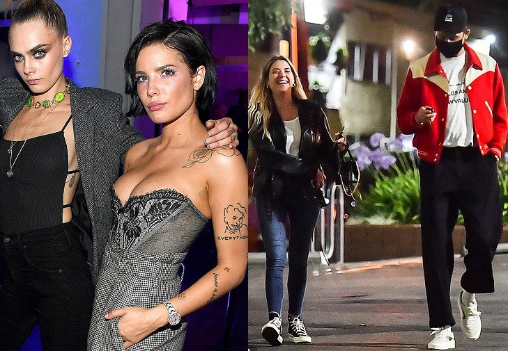 Cara Delevingne reportedly dating singer Halsey, three months after their exes Ashley Benson and G-Eazy became an item