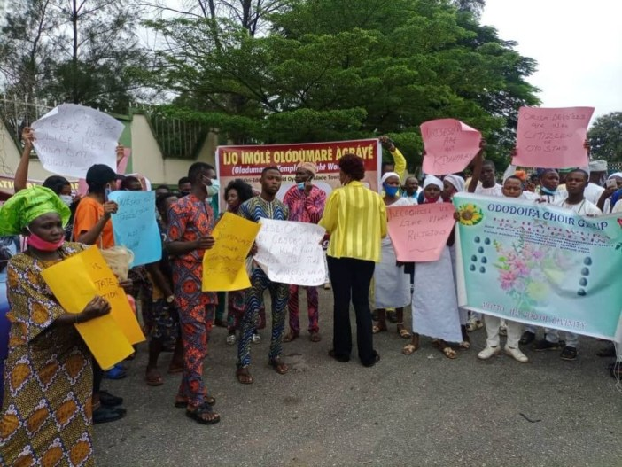 Oyo traditional worshippers stage protest against discrimination, demand 5 public holidays