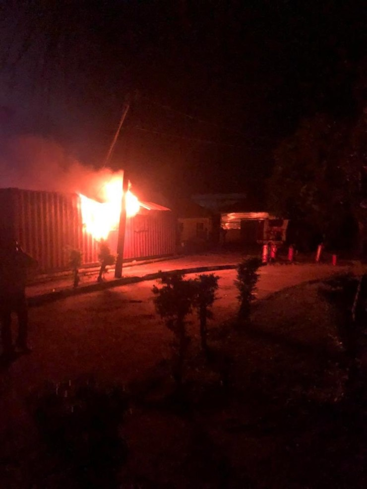 Card readers destroyed as fire guts INEC office in Ondo (photos)