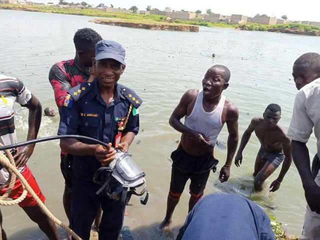 Kano State Fire Service recover body of 10-year-old boy who drowned while bathing in a pond
