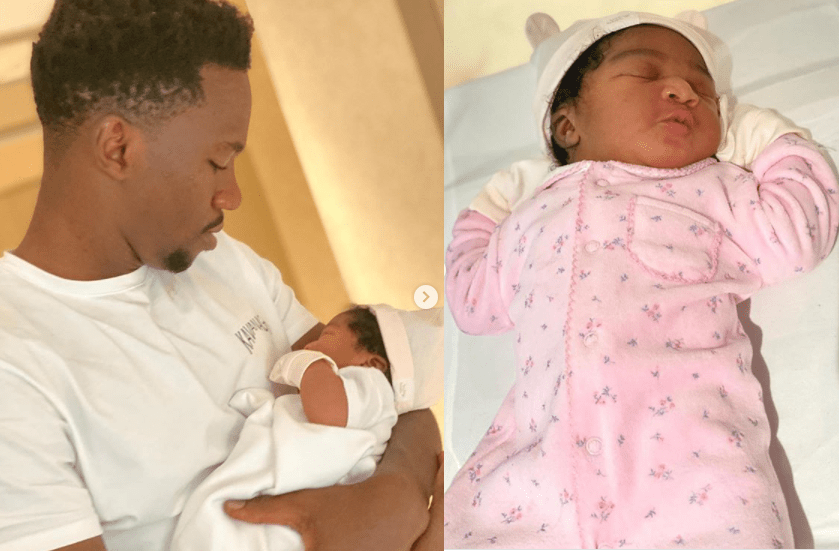 Super Eagles defender, Kenneth Omeruo and his wife Chioma welcome their second child, a baby girl? (Photos)
