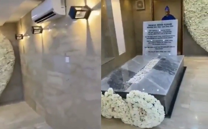 AC, marble finishing. See inside the mausoleum of ex-governor, Abiola Ajimobi (video)