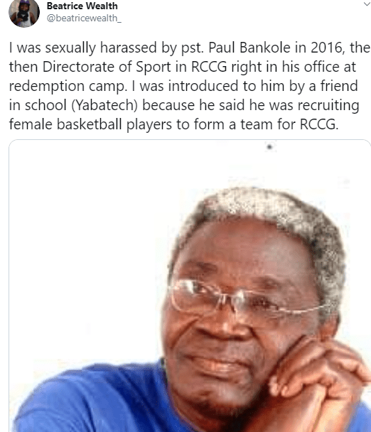 RCCG investigates pastor after a former basketball player accused him of sexual assault