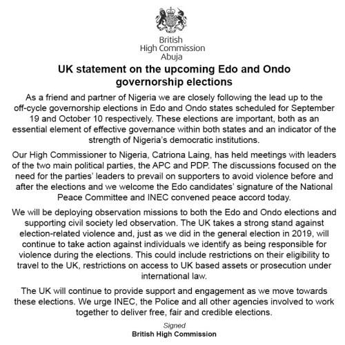 UK threatens