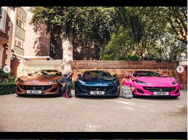 Billionaire businessman, Femi Otedola buys three Ferrari Portofino whips for his three daughters (photos)
